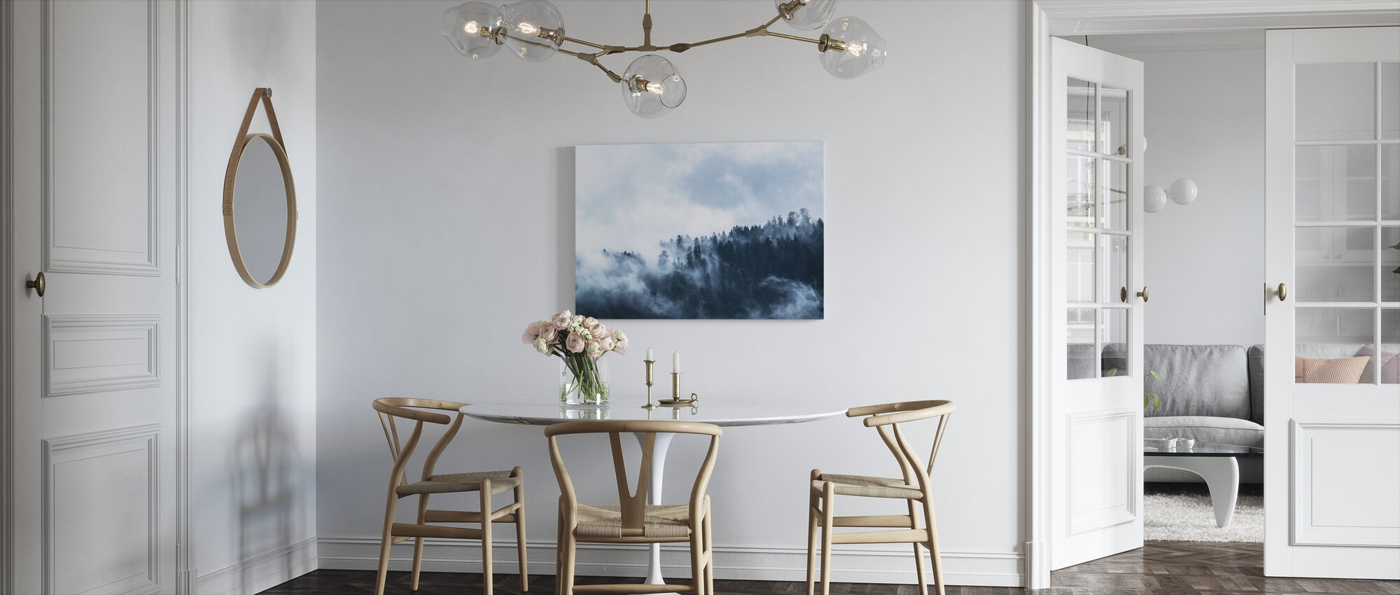 Fog in the Forest - Canvas print - Kitchen