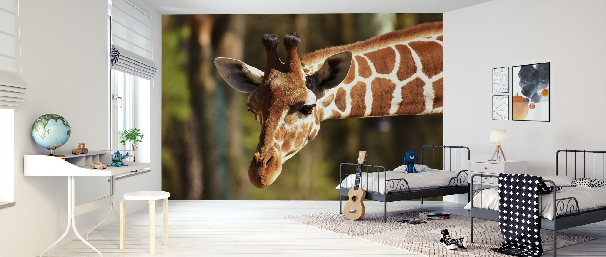 Giraffe in the Wild - Wallpaper - Kids Room