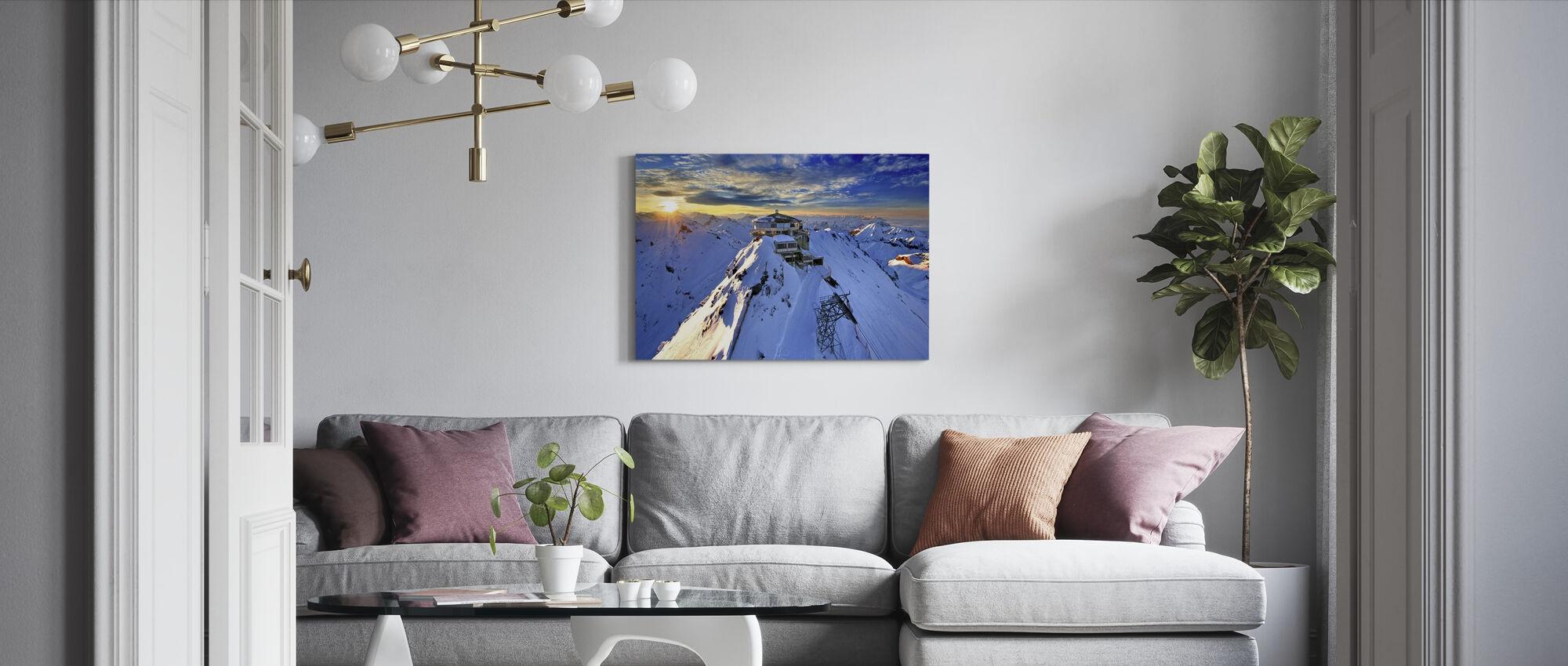 Schiltorn Mountain Station - Canvas print - Living Room