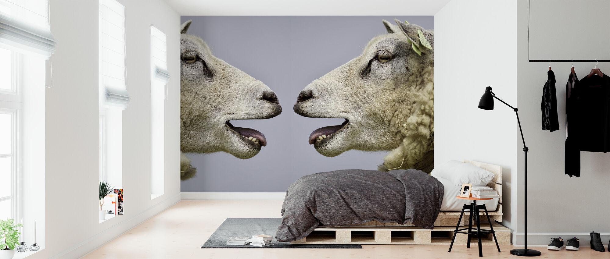 Lampaat Bleat - Tapetti - Makuuhuone