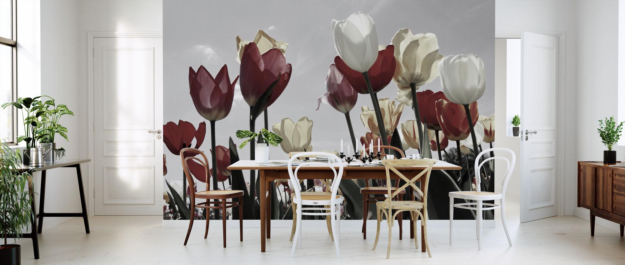 Tulip trädgård - Tapet - Kök