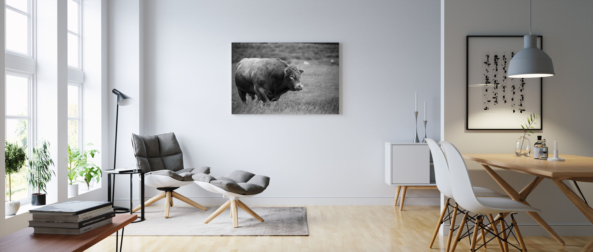 The Bull - Canvas print - Living Room