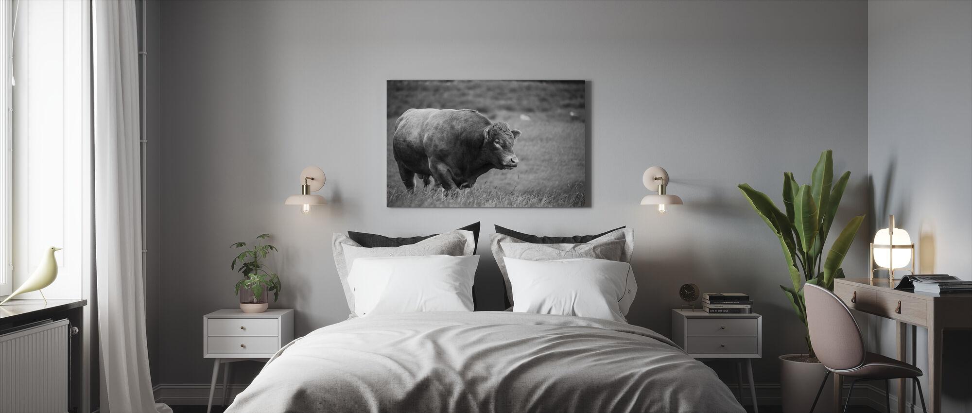 Bull - Lerretsbilde - Soverom