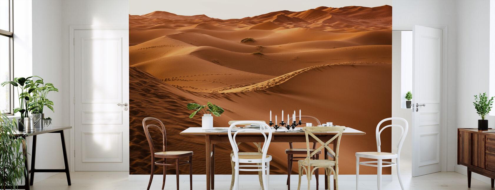 Wüstensand Fußabdrücke - Tapete - Küchen