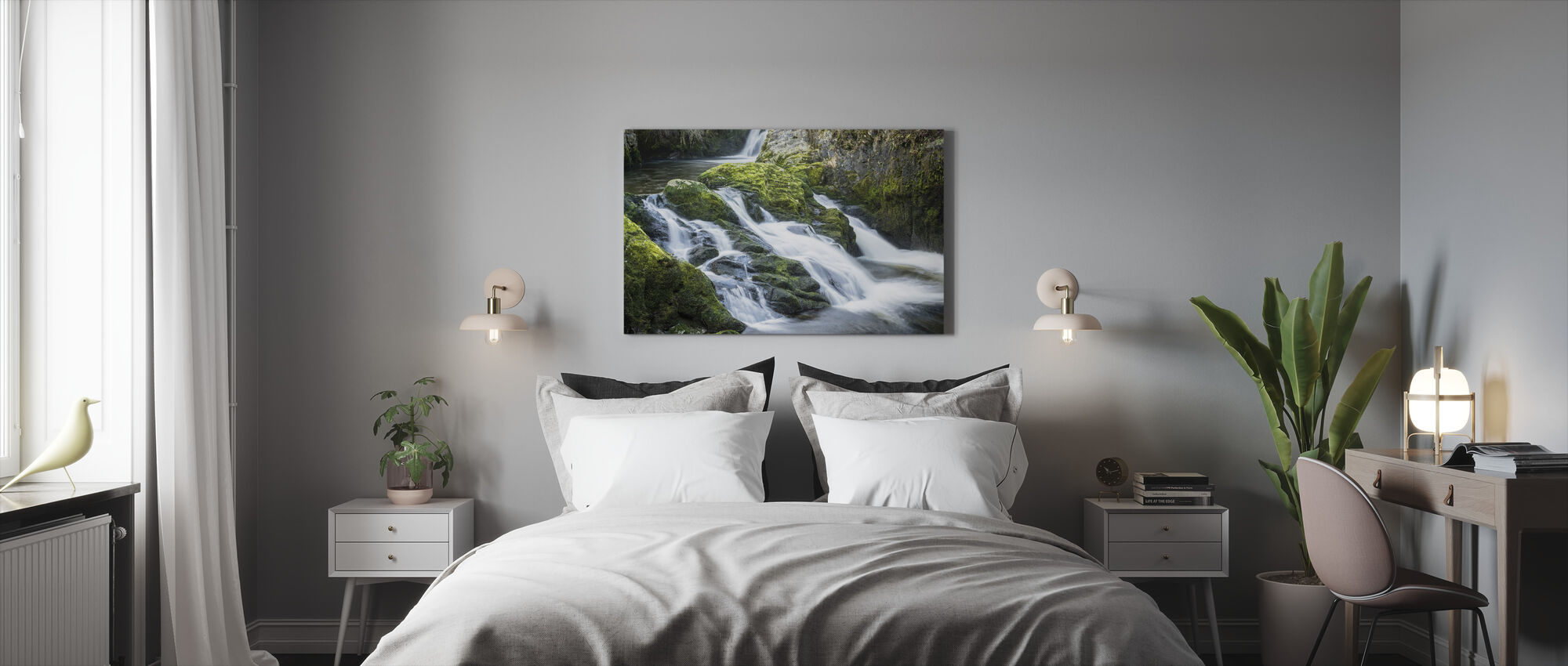 Cascades of Waterfall - Canvas print - Bedroom
