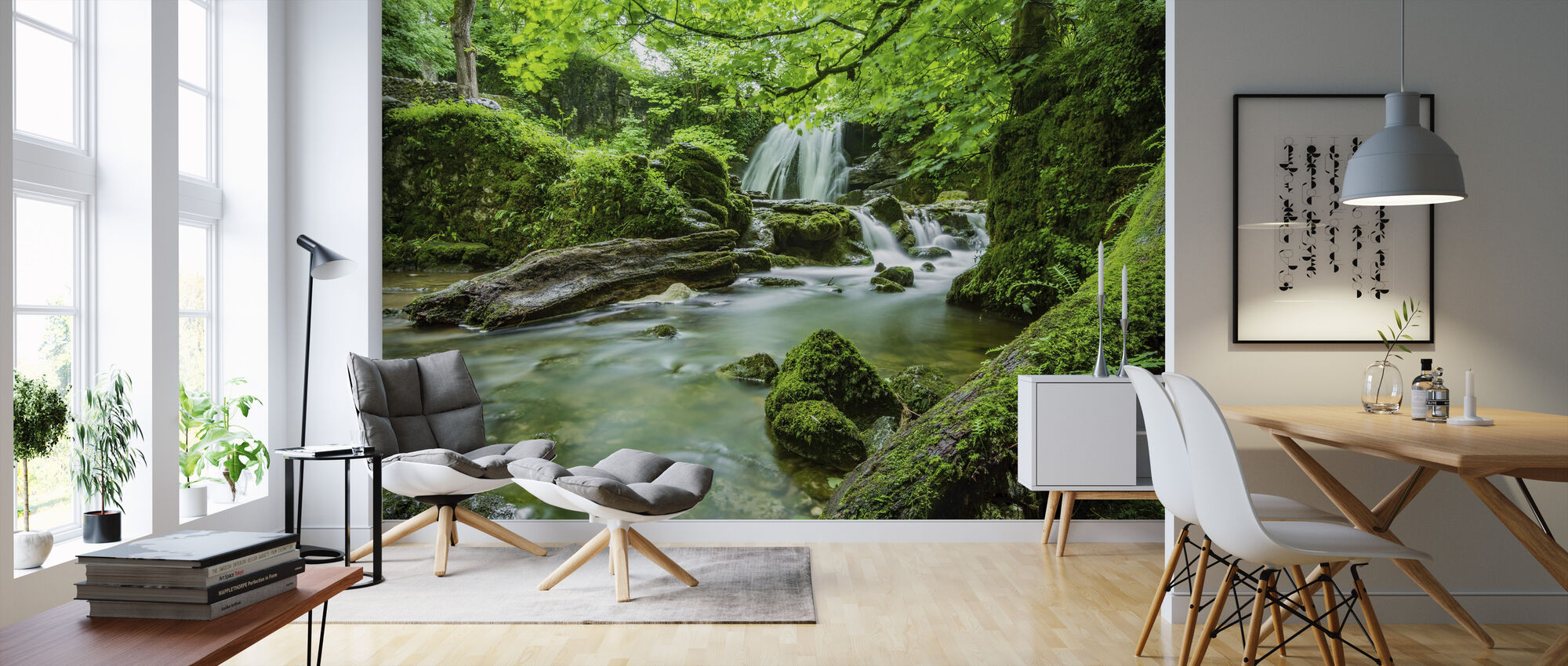 Waterfall Stream - Wallpaper - Living Room