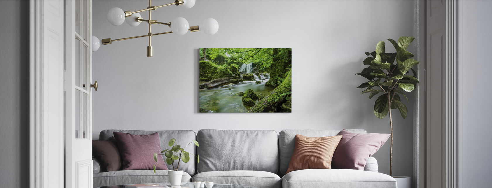 Waterfall Stream - Canvas print - Living Room