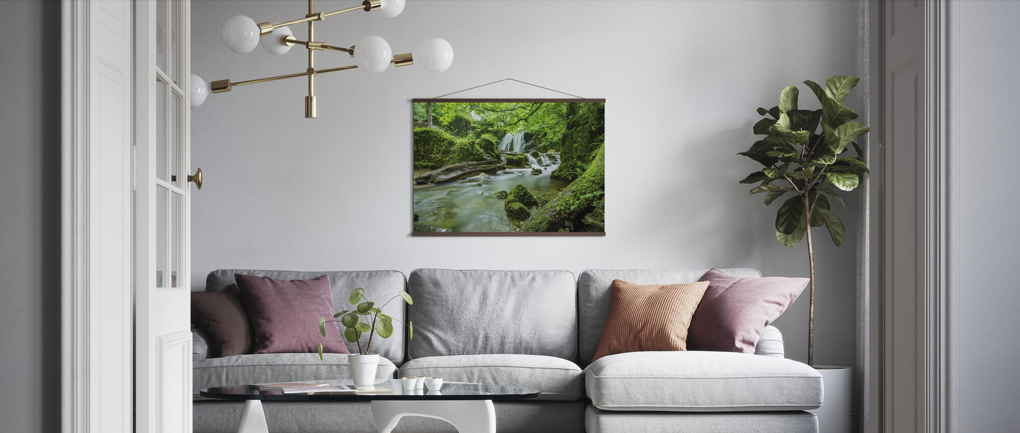 Waterfall Stream - Poster - Living Room