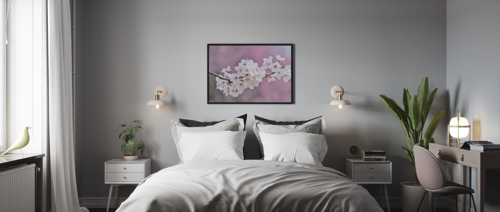 Beautiful Cherry Blossoms - Framed print - Bedroom