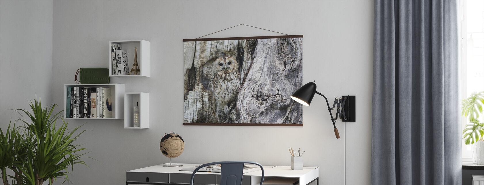 Camouflage ugle - Plakat - Kontor