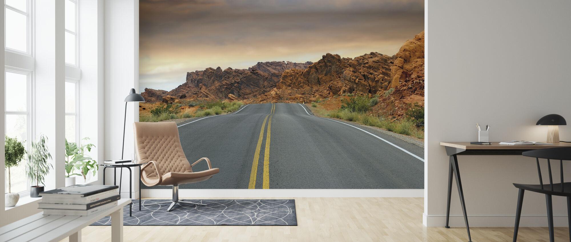 Empty Road - Wallpaper - Living Room