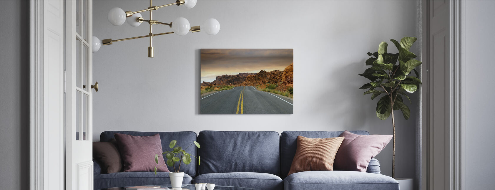 Empty Road - Canvas print - Living Room