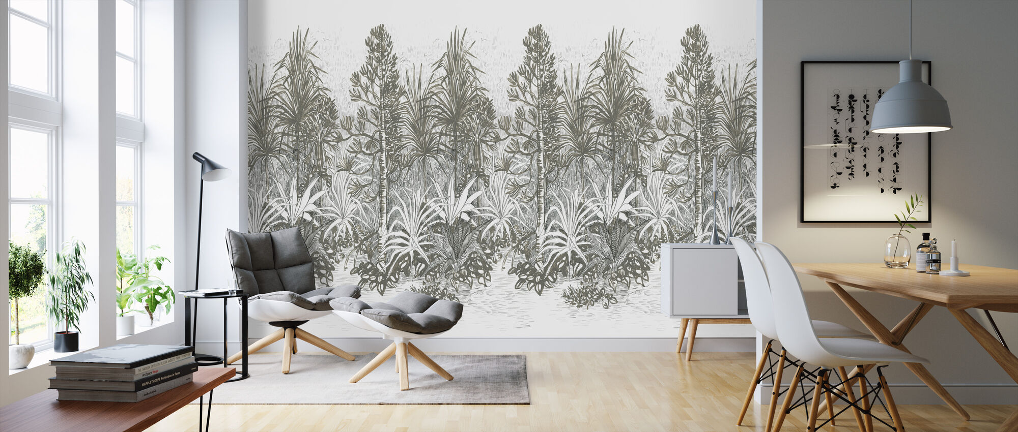 Walking Trail Olive - Wallpaper - Living Room