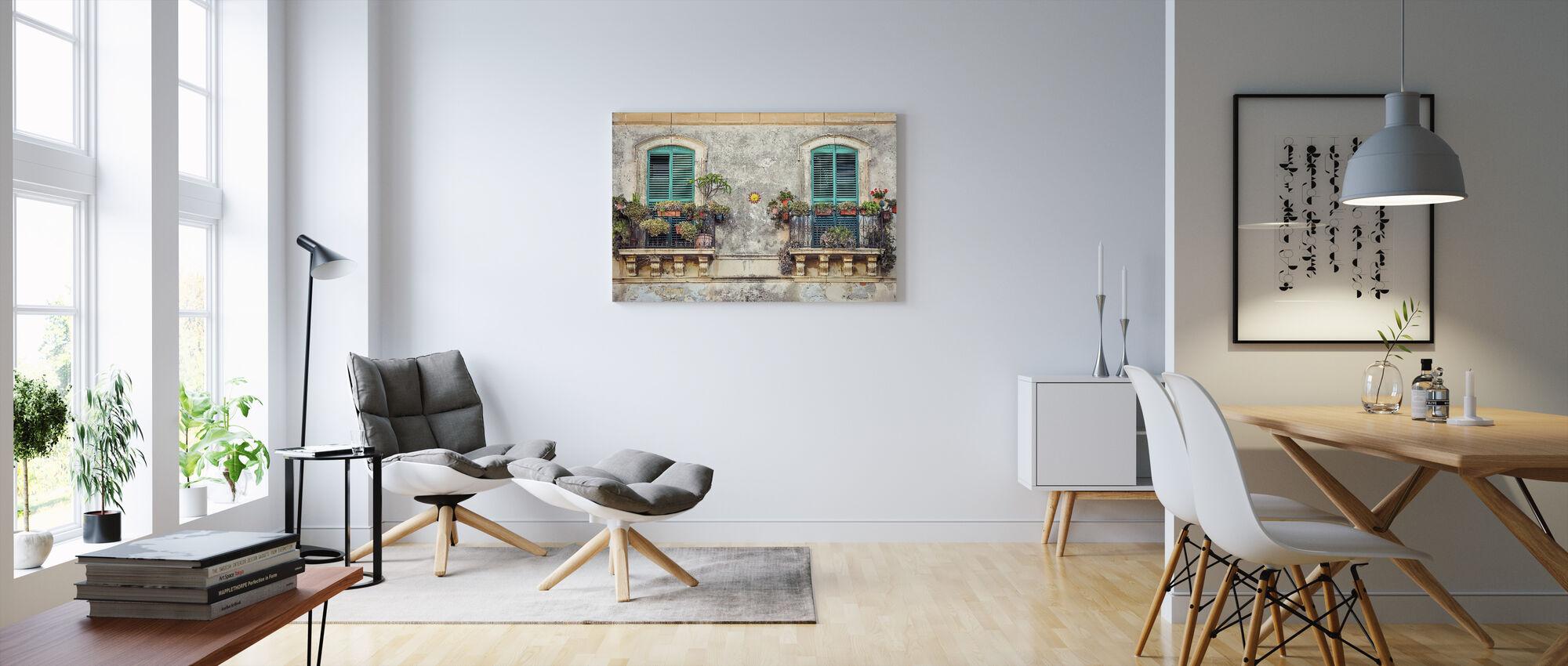 Balcony Windows - Canvas print - Living Room