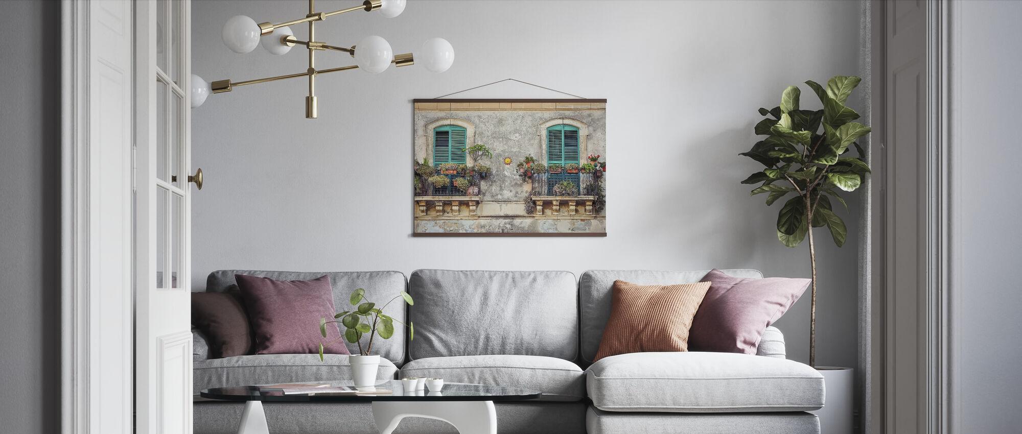 Balkon Ramen - Poster - Woonkamer