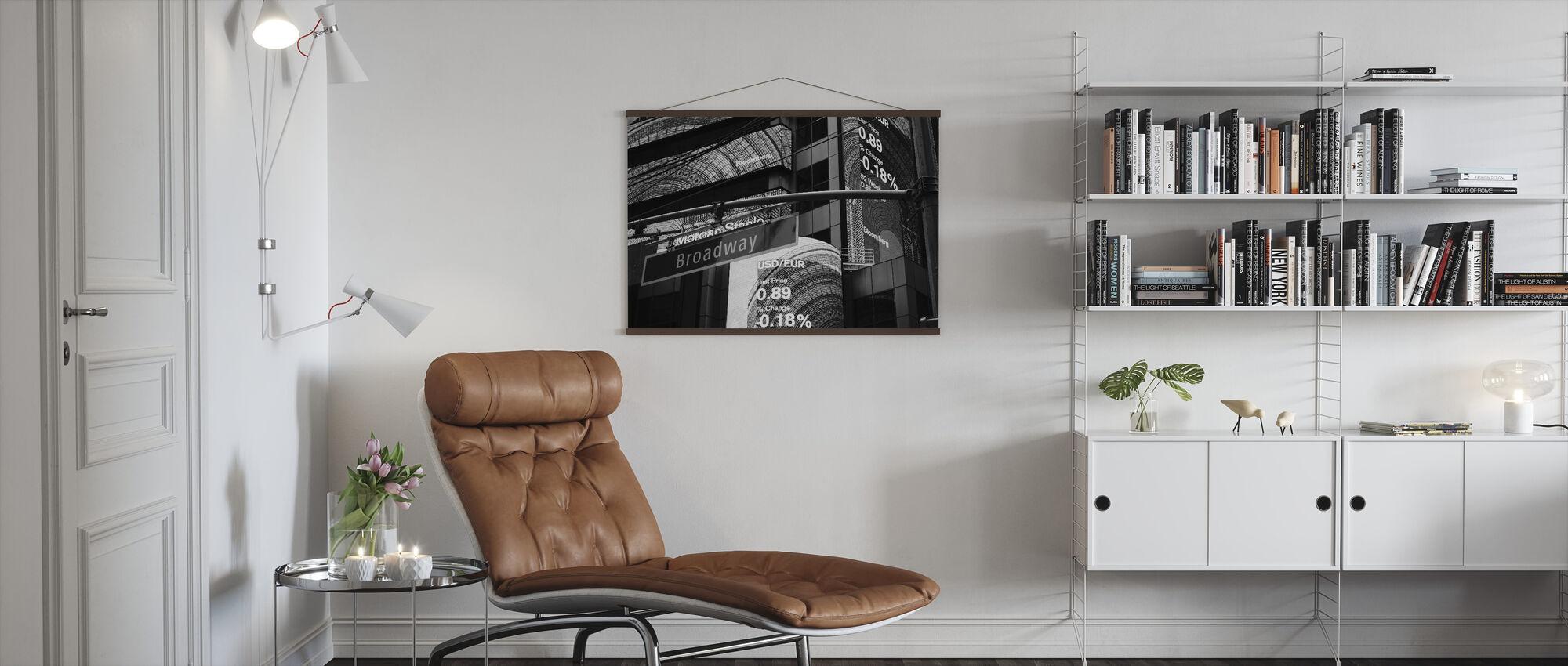Broadway Sign - Poster - Living Room