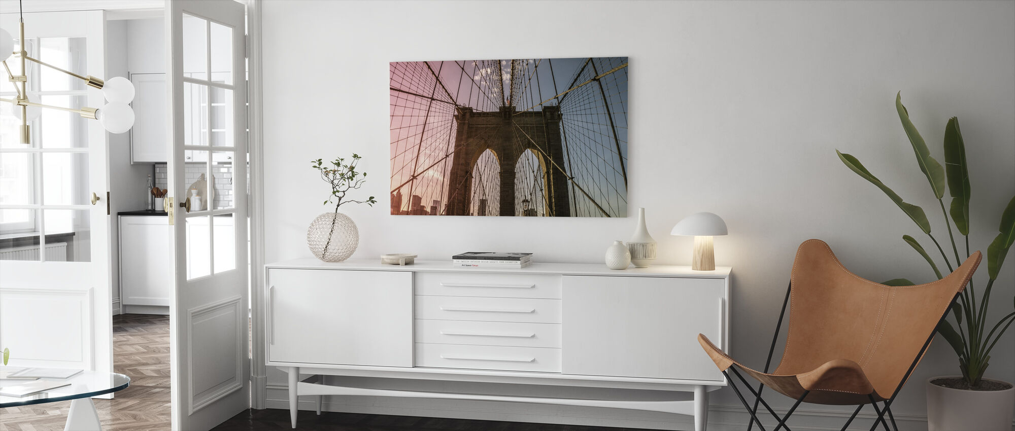 Brooklyn Brug - Canvas print - Woonkamer