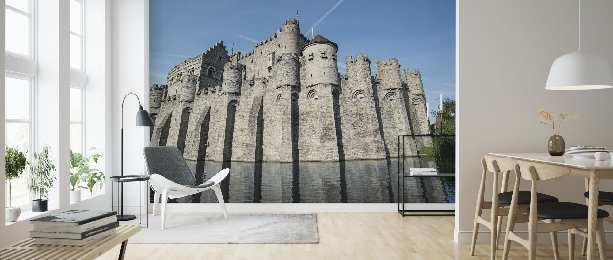 Castle Fortress - Wallpaper - Living Room