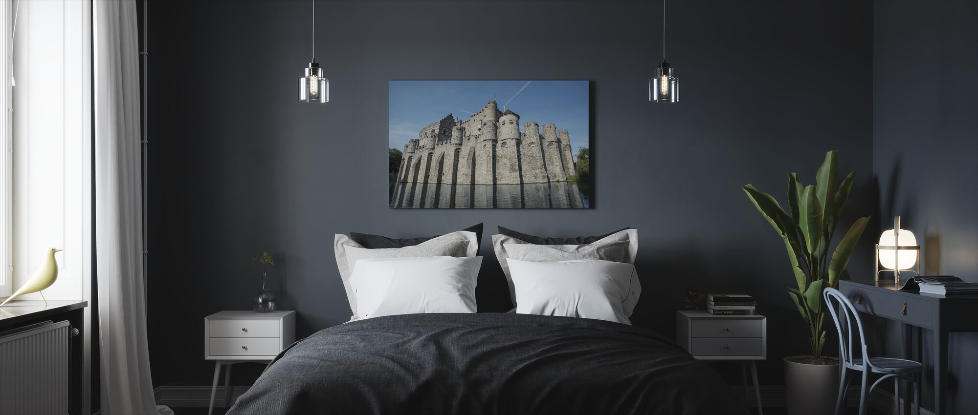 Castle Fortress - Canvas print - Bedroom