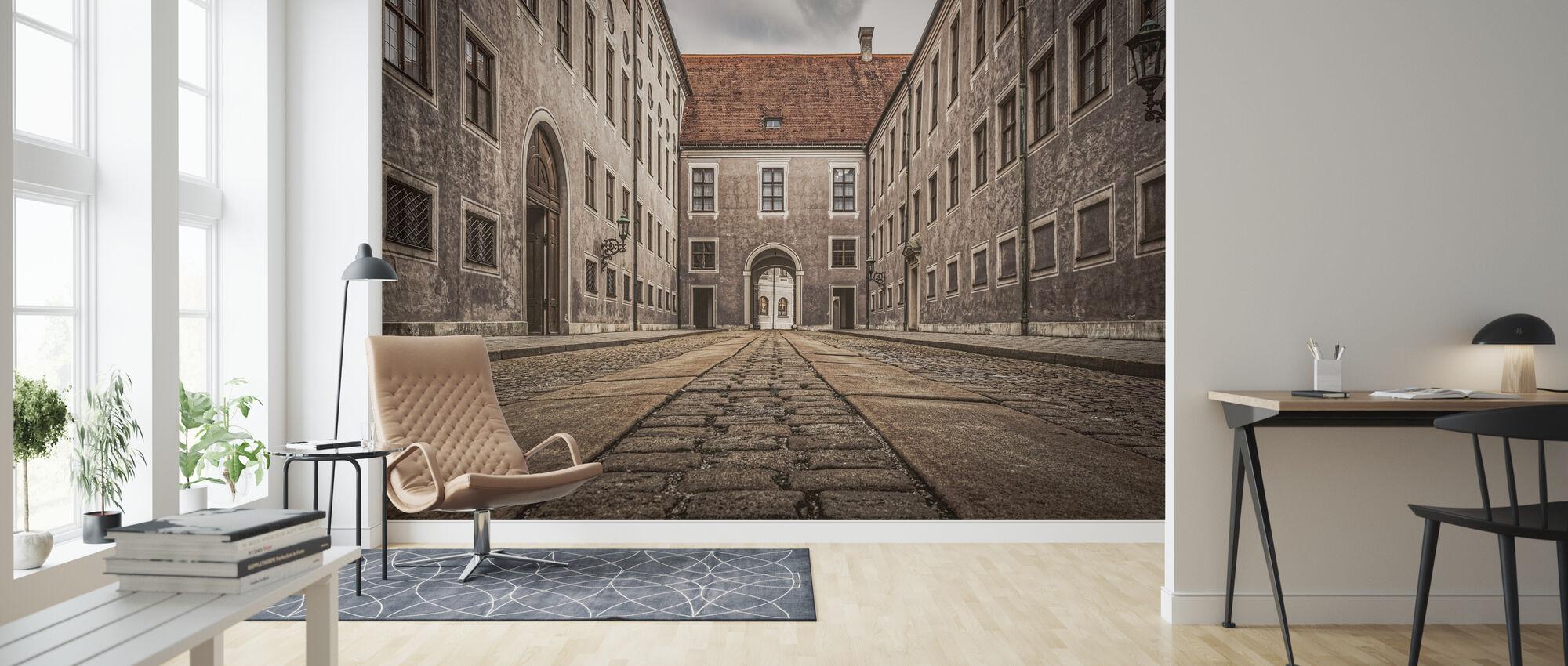 City Buildings - Wallpaper - Living Room