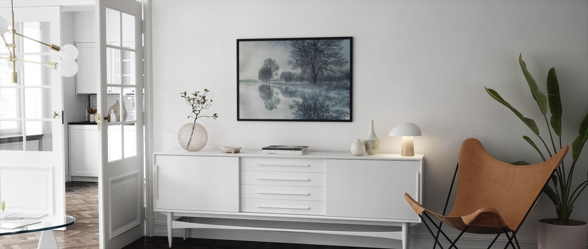 Mirror järvi - Kehystetty kuva - Olohuone