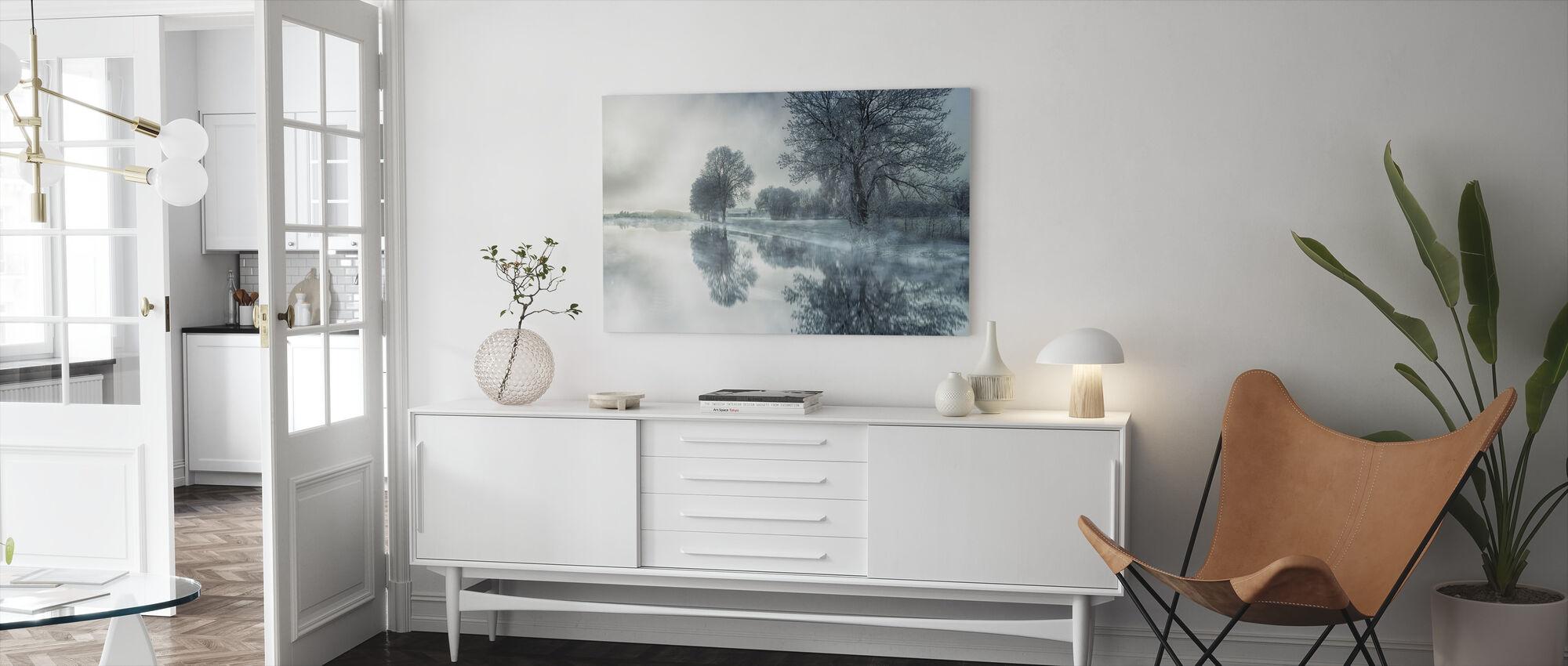 Speil innsjø - Lerretsbilde - Stue