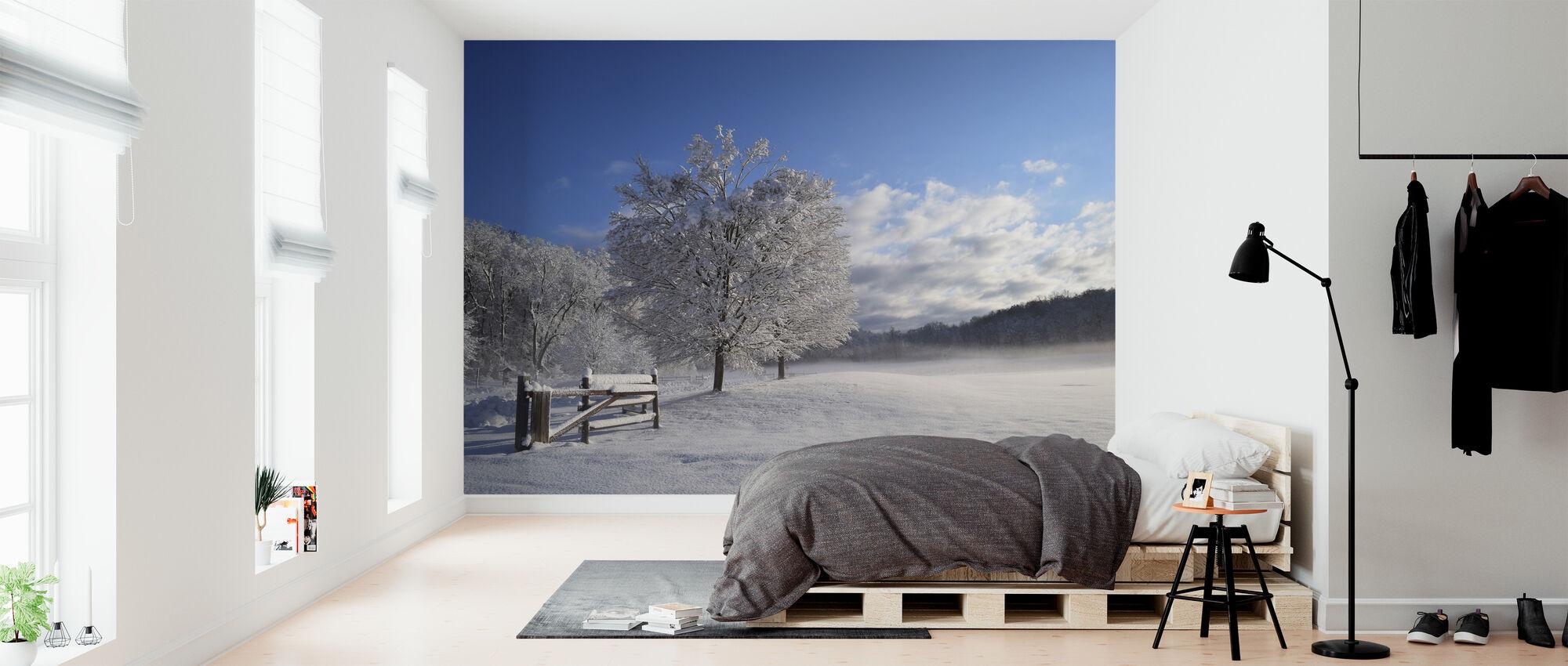 Snø dekket treet - Tapet - Soverom