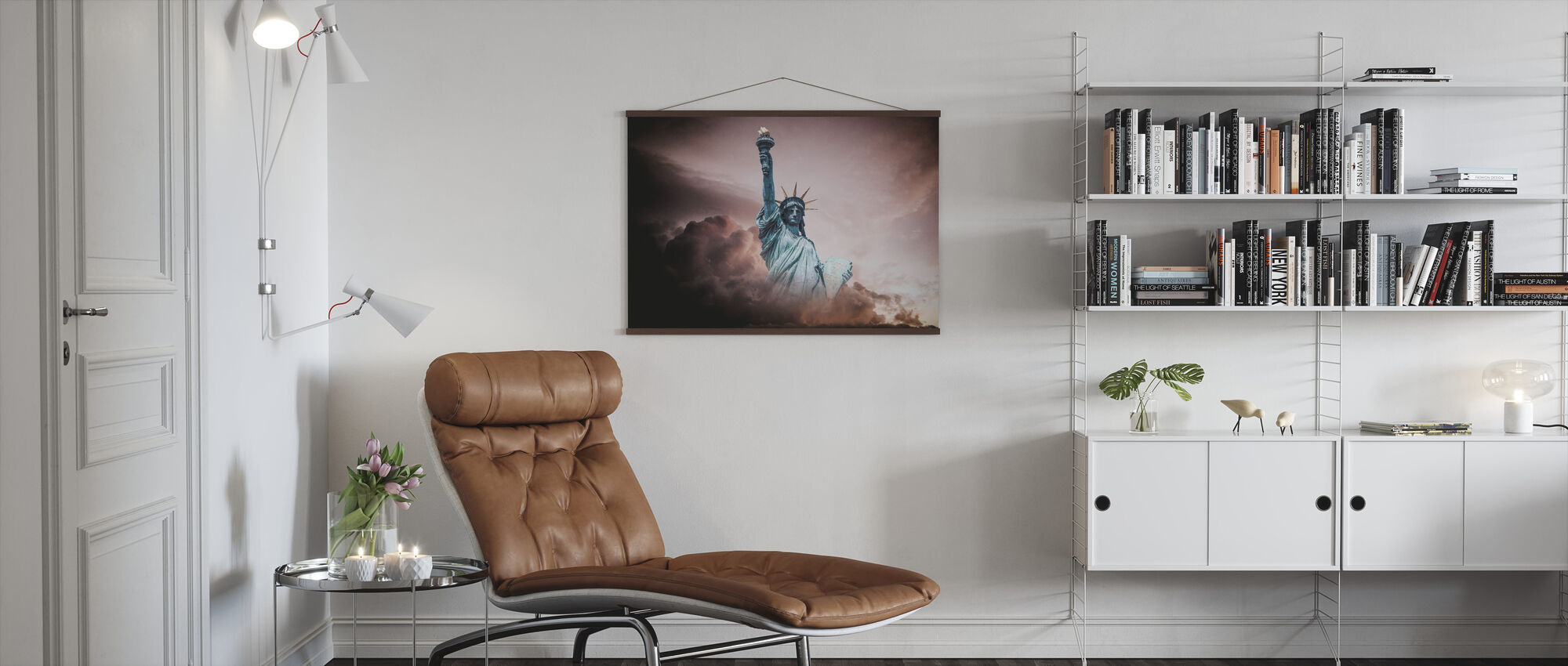 Statue of Liberty in Clouds - Poster - Living Room