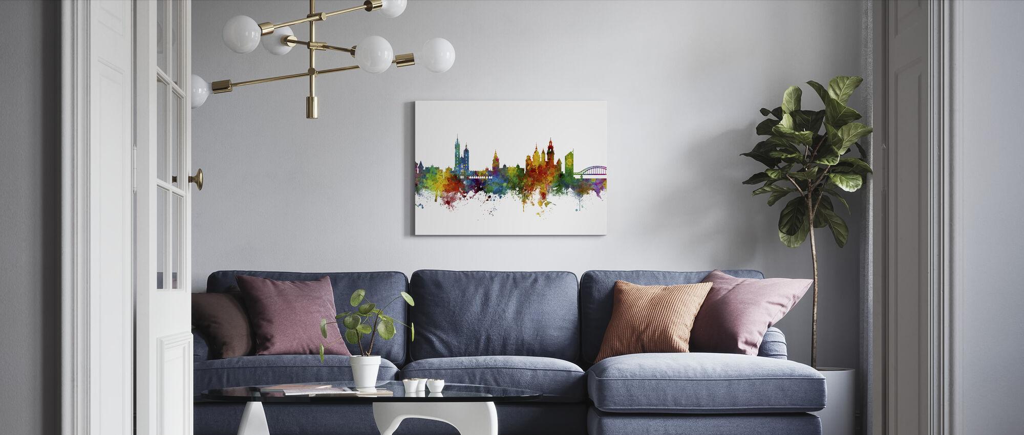 Krakow Poland Skyline - Canvas print - Living Room