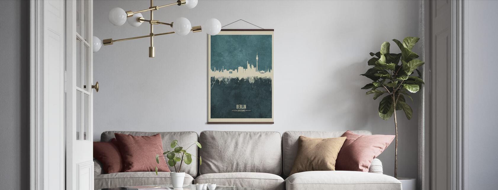 Berlin Tyskland Skyline Blå - Poster - Vardagsrum