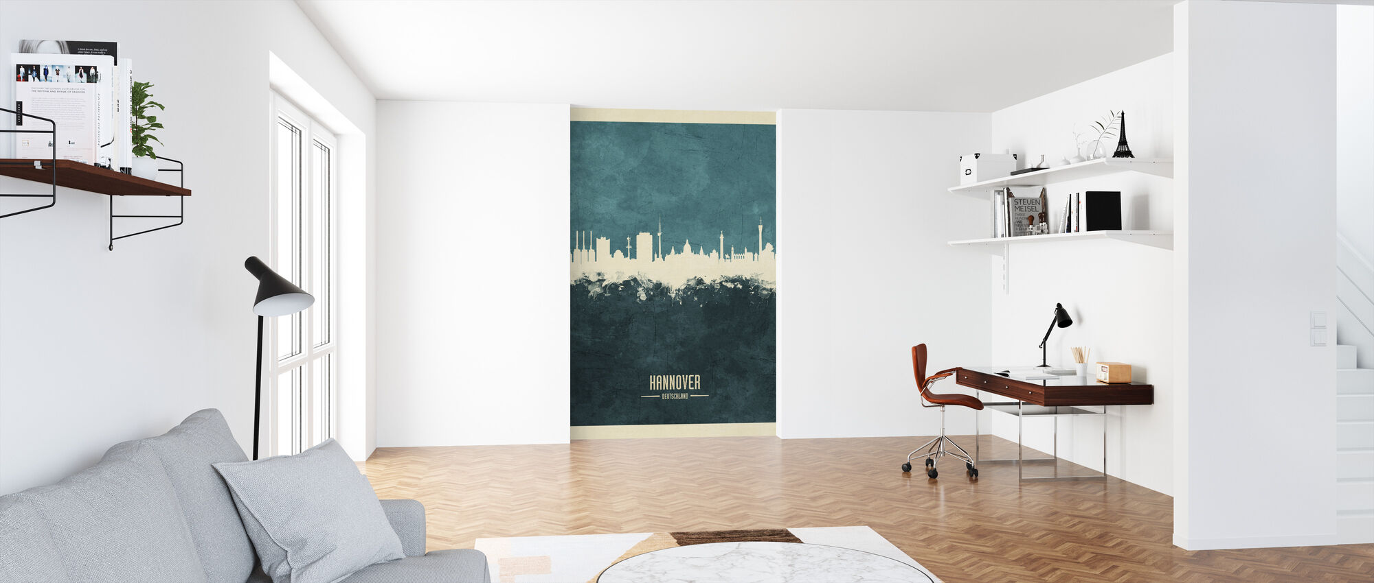 Hannover Germany Skyline Blue - Wallpaper - Office