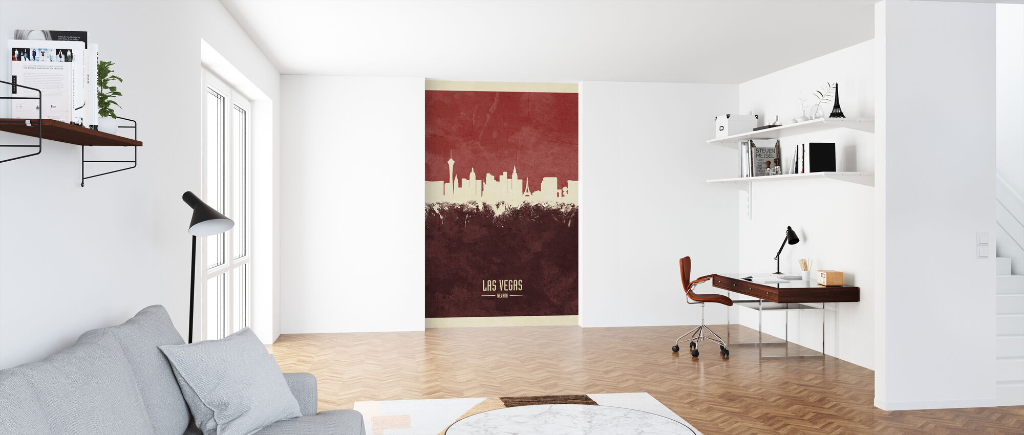 Las Vegas Nevada Skyline Red - Wallpaper - Office
