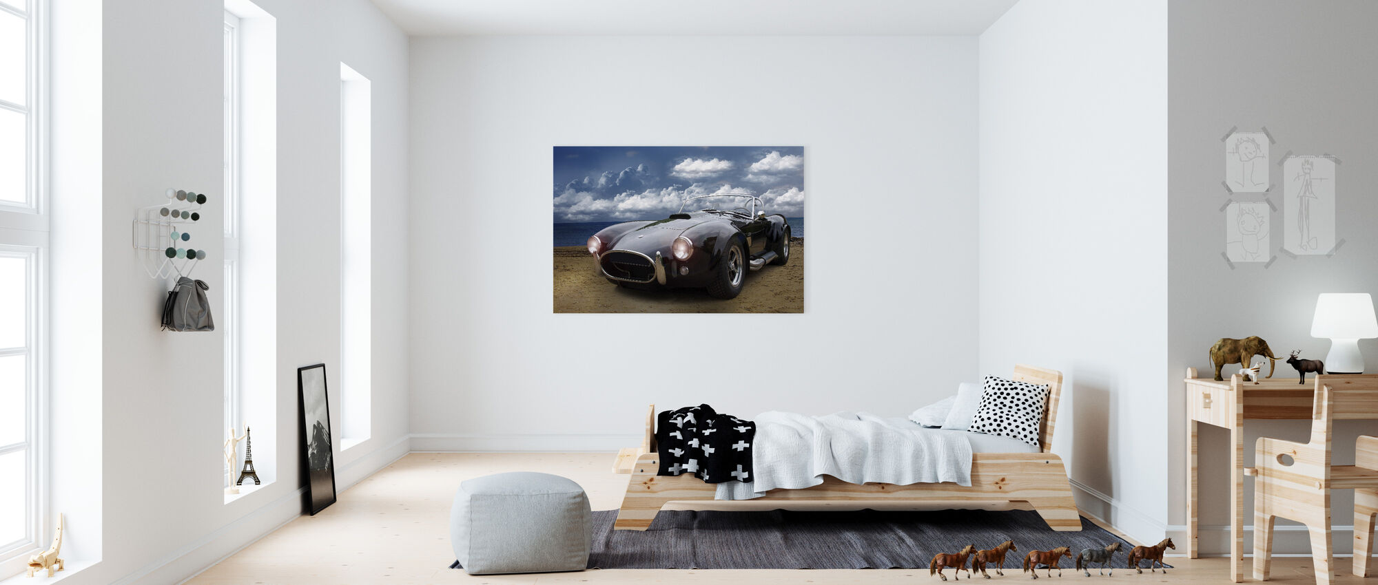 Classic Vintage Car - Canvastaulu - Lastenhuone