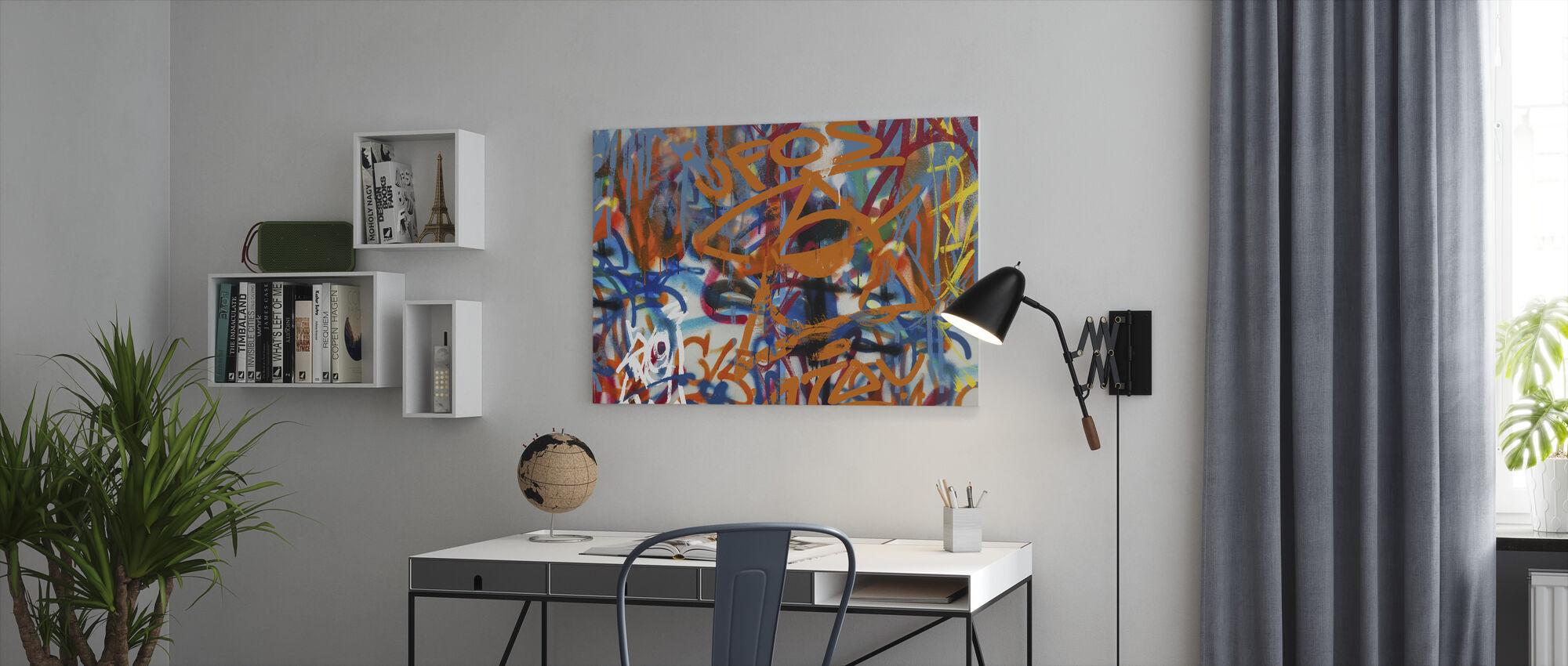 Graffiti Abstrakt Konst - Canvastavla - Kontor