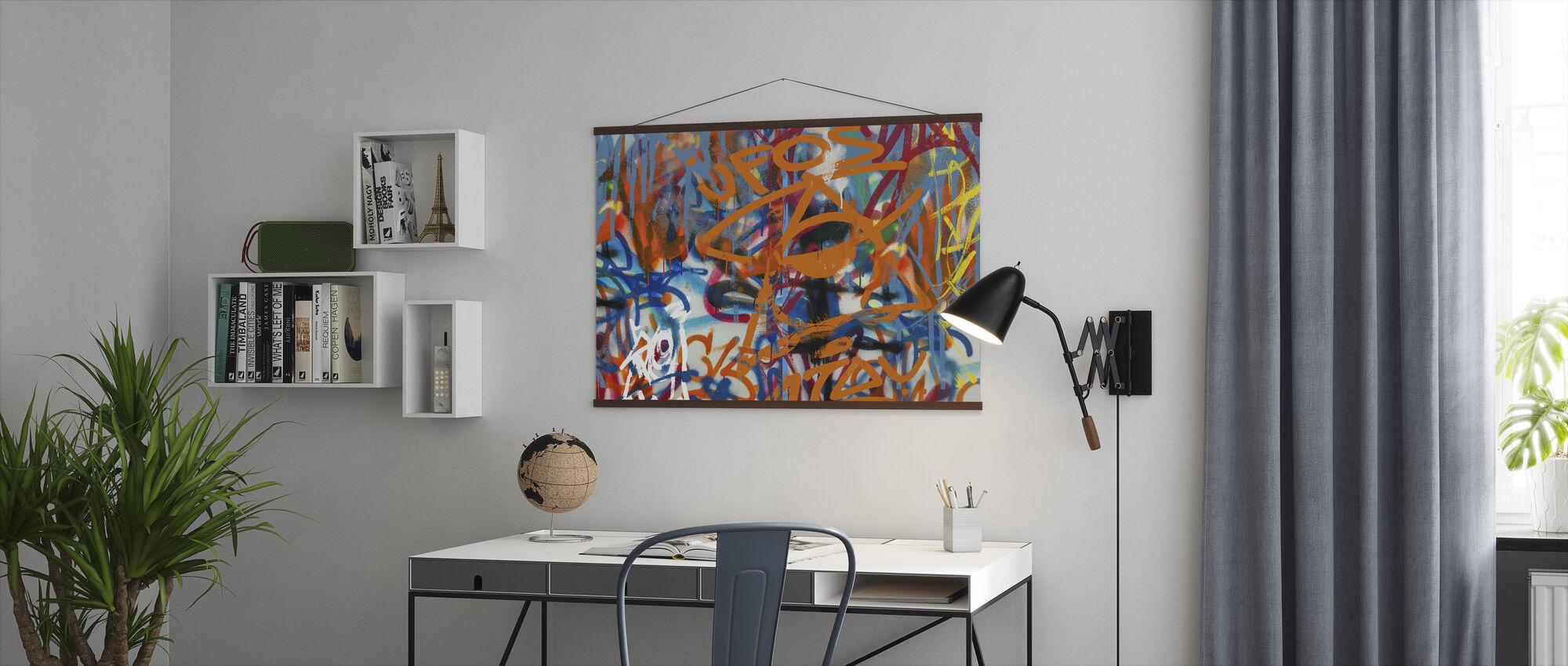 Graffiti Abstract Art - Poster - Office