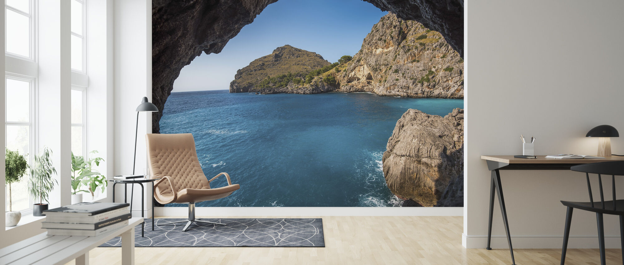 Beach Cliff - Wallpaper - Living Room