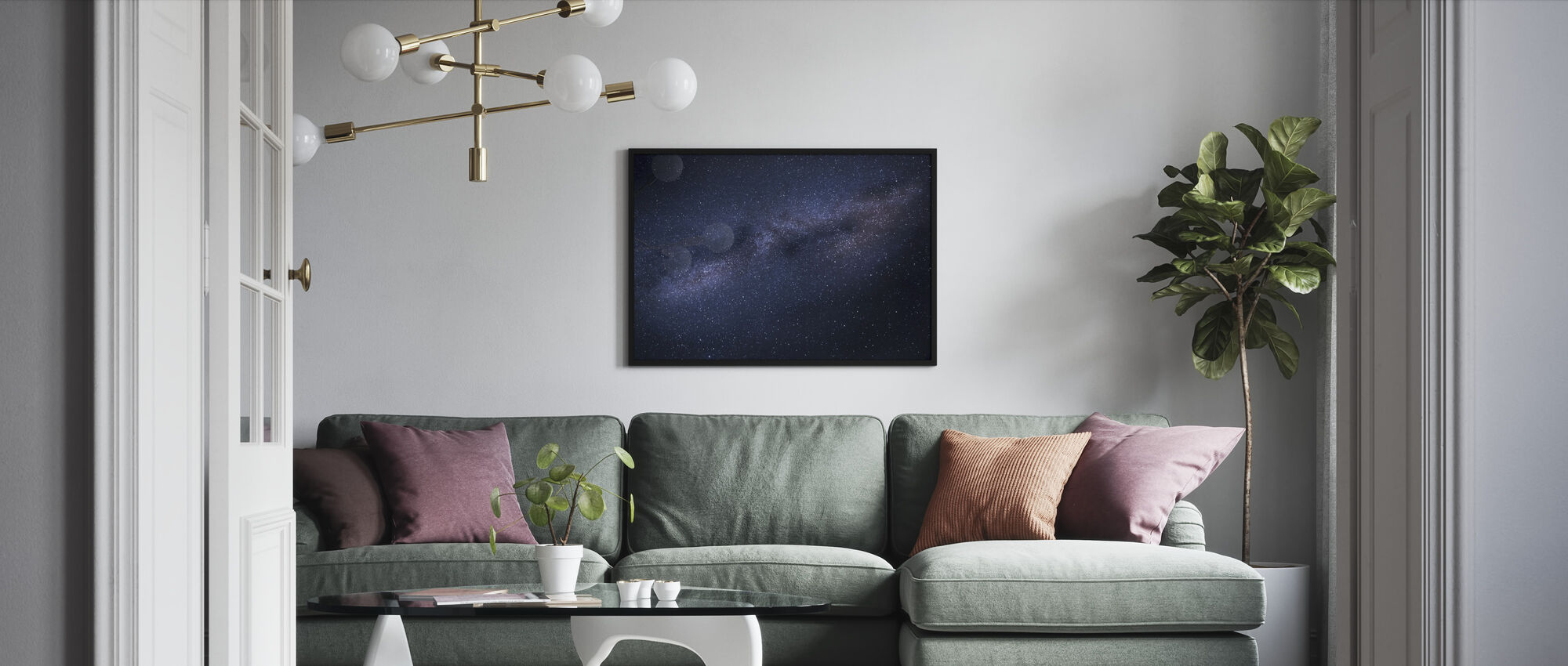 Milky Way Skyscape - Framed print - Living Room