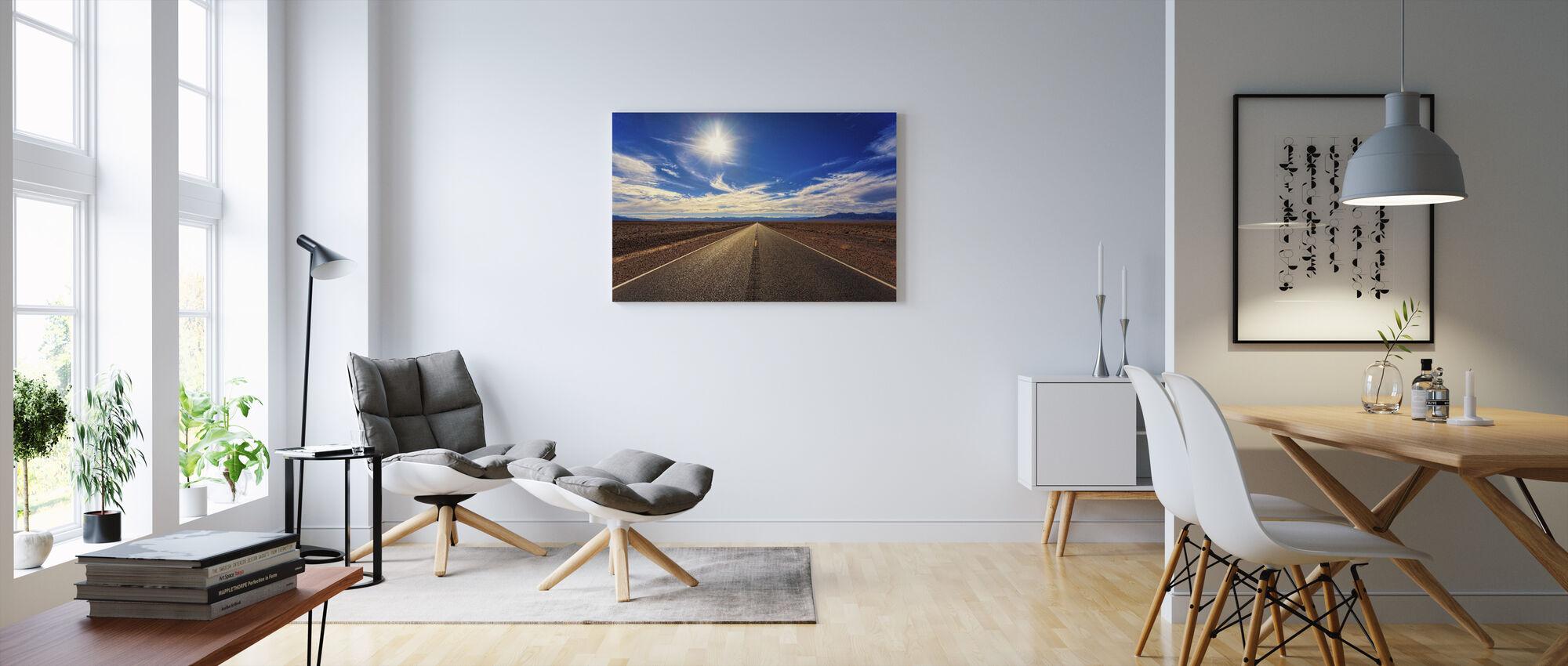 Desert Road - Canvas print - Living Room