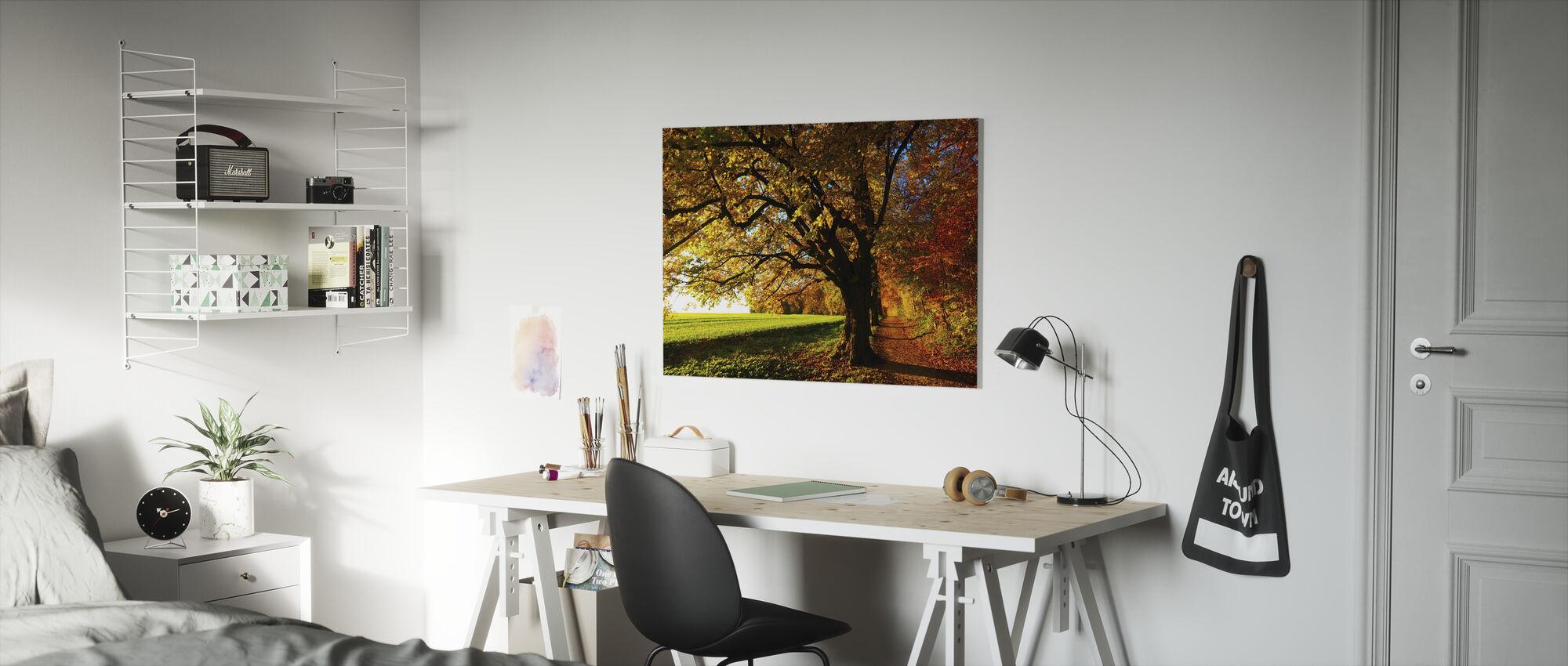 Bospad en Veld - Canvas print - Kinderkamer