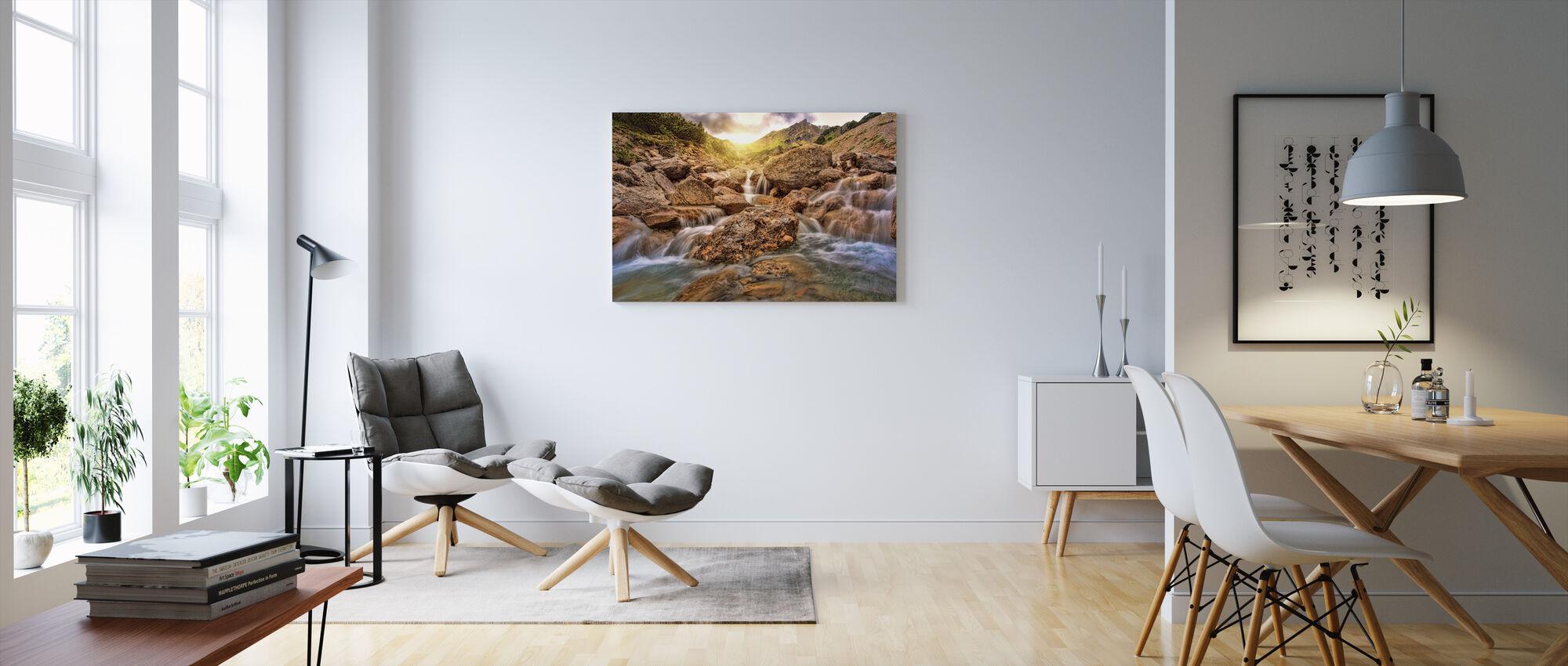 Joki Sunset - Canvastaulu - Olohuone