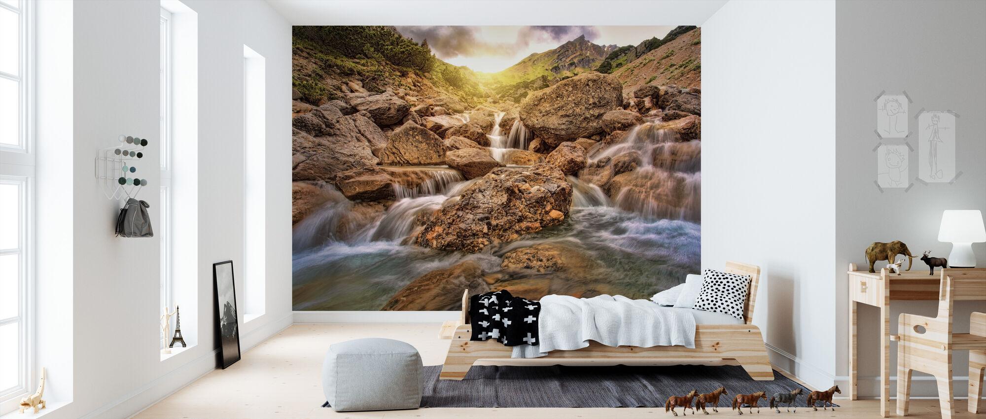 River Sunset - Wallpaper - Kids Room