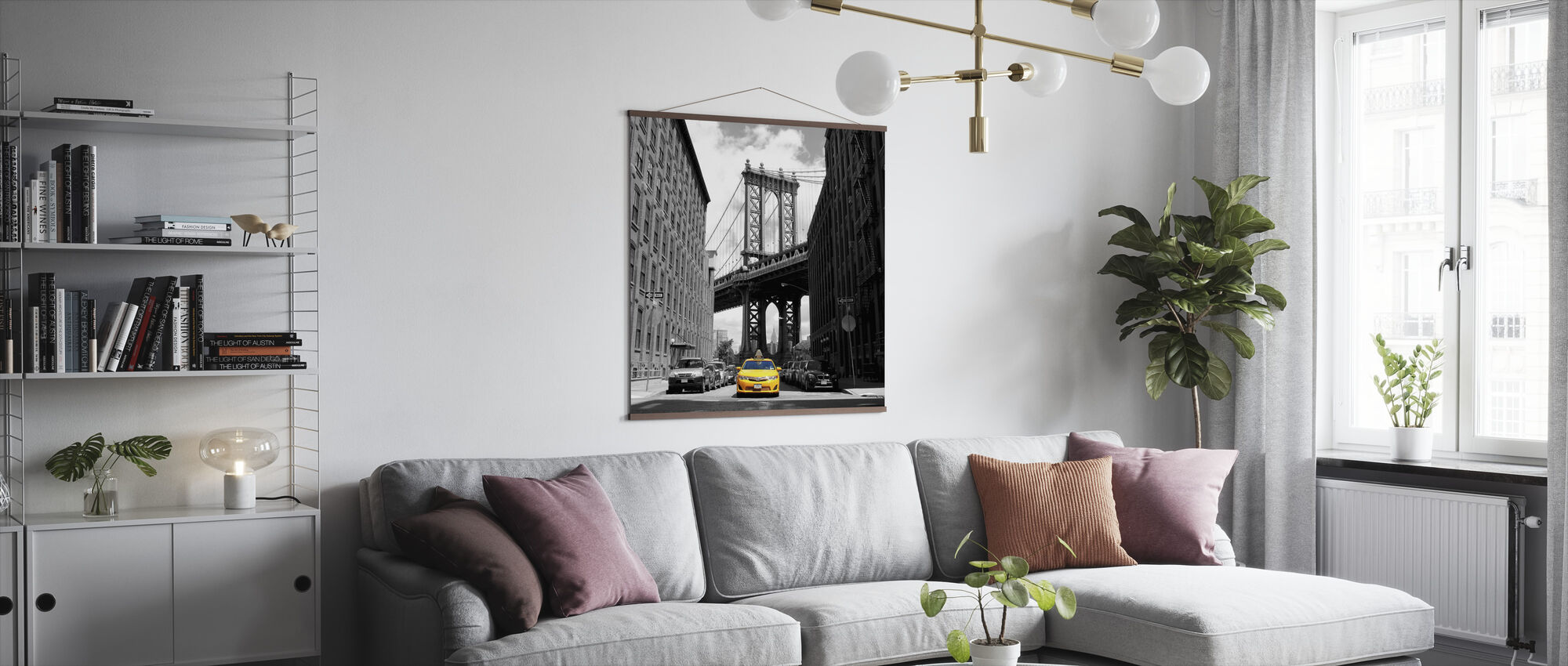 Yellow Taxi - Poster - Living Room
