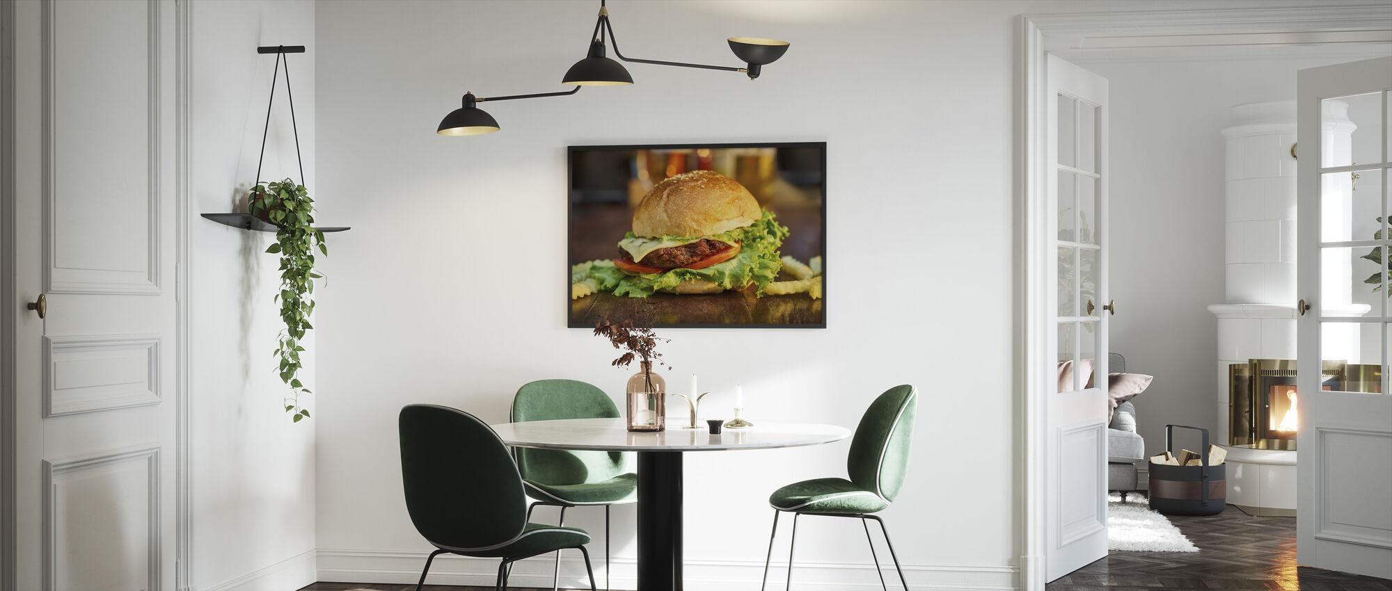 Burger - Framed print - Kitchen