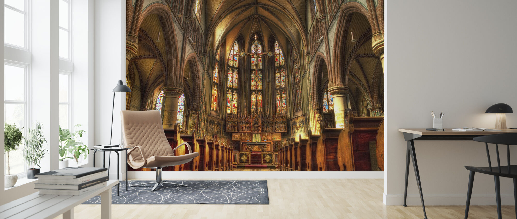 Cathedral - Wallpaper - Living Room