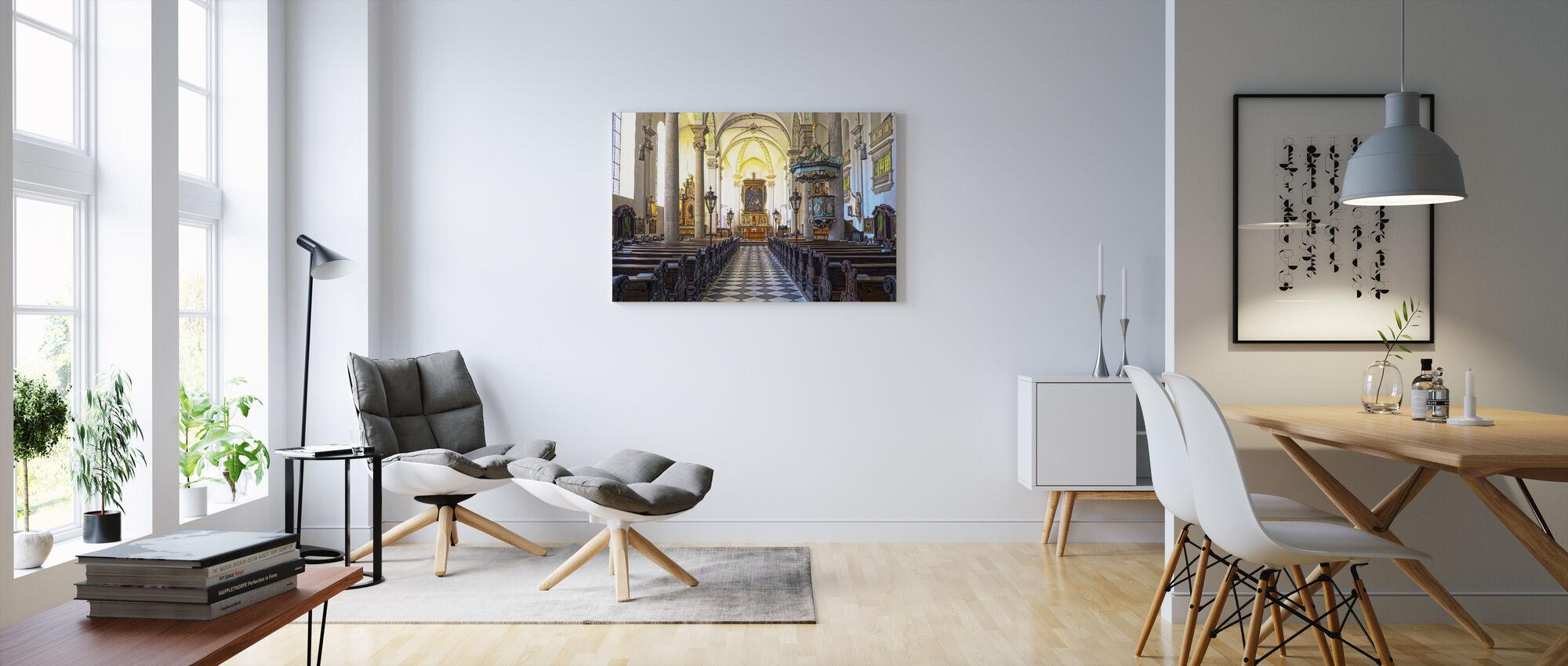 Church Pews - Canvas print - Living Room