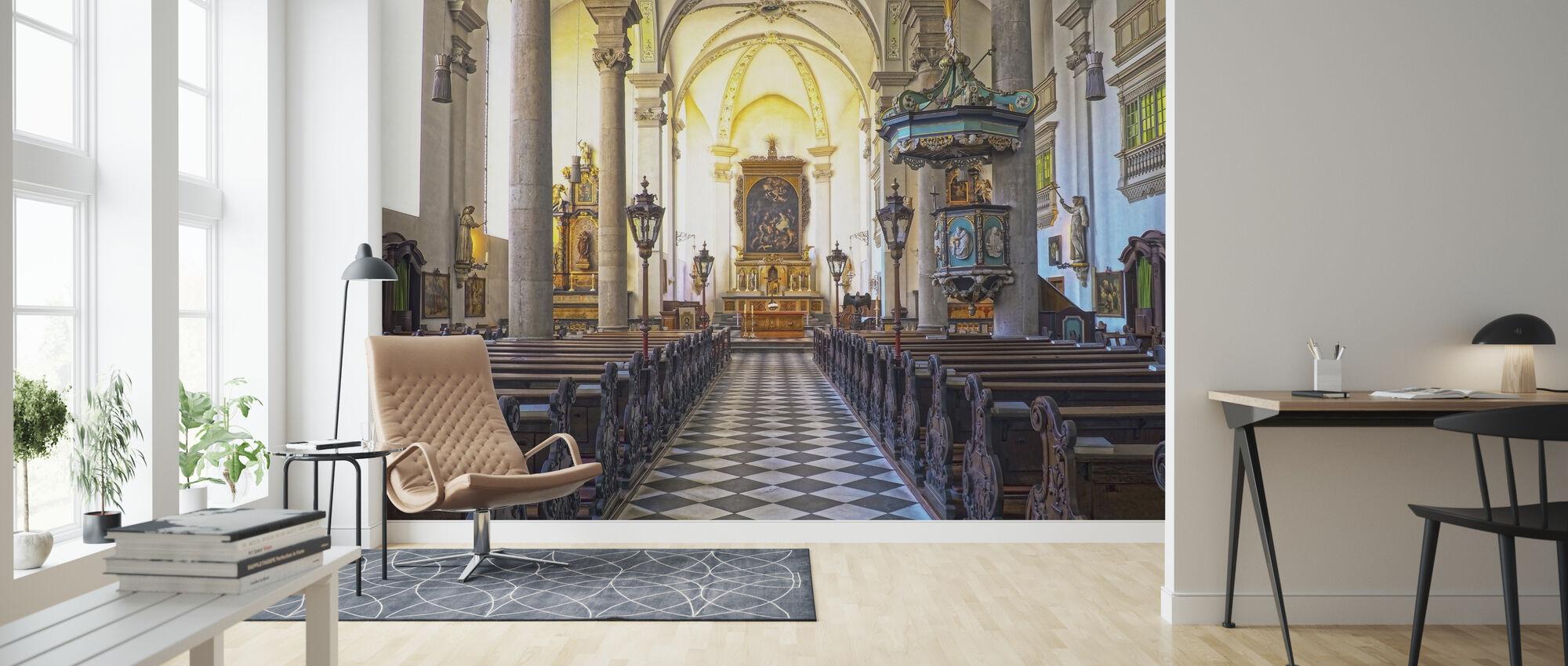 Kerkkerkbanken - Behang - Woonkamer