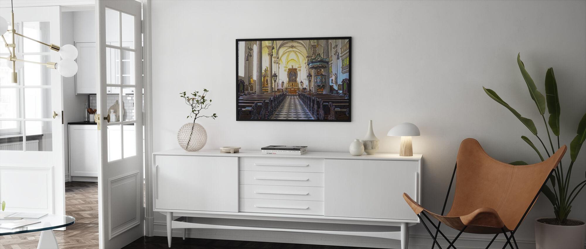 Church Pews - Framed print - Living Room