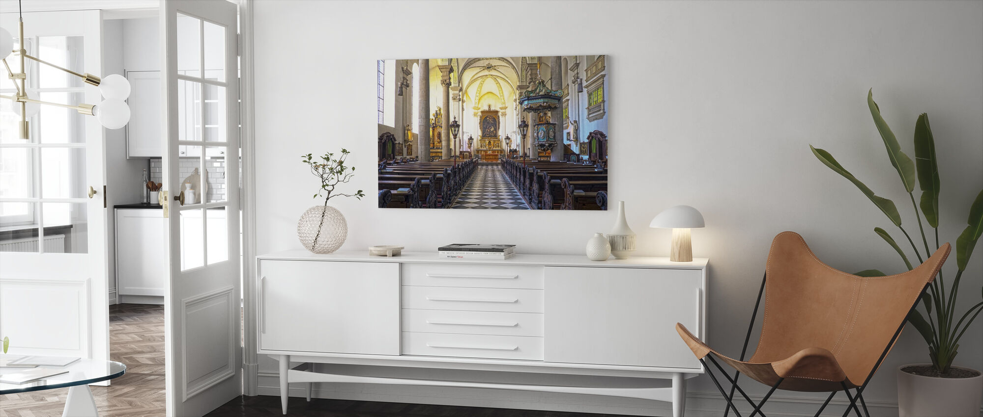 Church Pews - Canvas print - Living Room