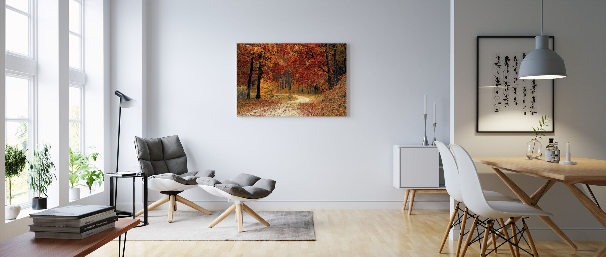 Ścieżka leśna - Obraz na płótnie - Pokój dzienny