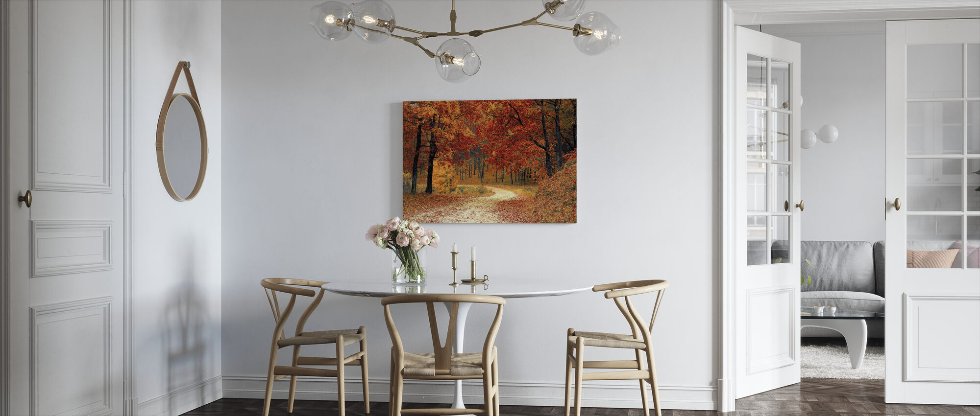 Woods Pathway - Canvas print - Kitchen
